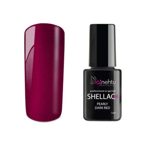 Ráj nehtů UV gel lak Shellac Me 12ml - Pearly Dark Red