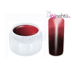 Ráj nehtů Raj nechtov - Farebný UV gél THERMO - brown/red - 5 ml